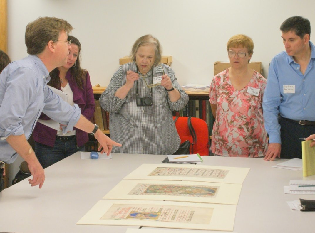 Medievalists visiting special collections